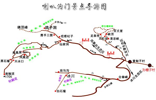 森林风景区有13个景点