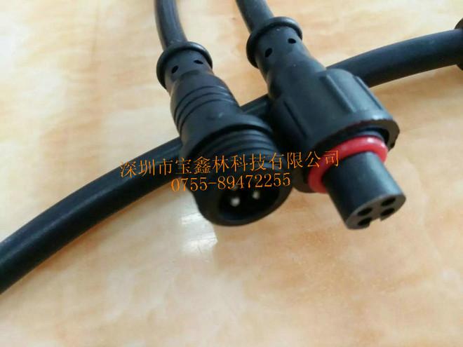 4芯高温线防水插头,防水公母插头