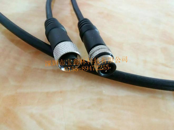 M10电动车4芯金属插头